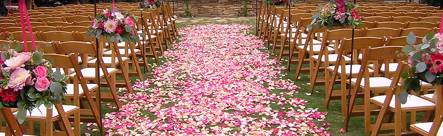 flower petals for wedding make your wedding aisle extraordinarily decorated tampa 4198