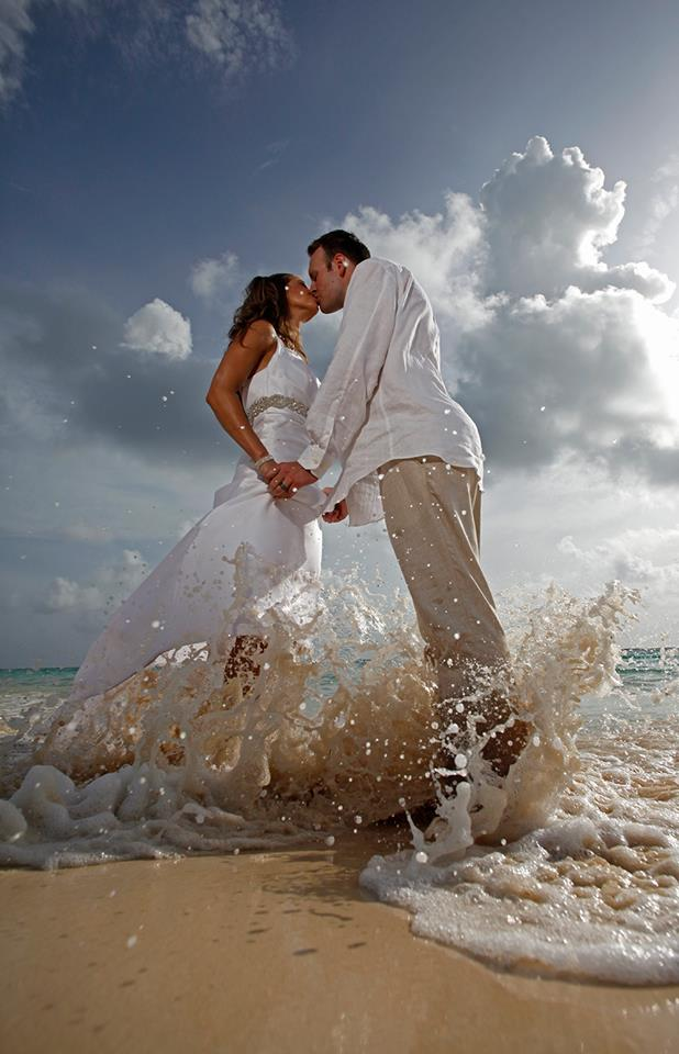 CW Waves Bride and Groom